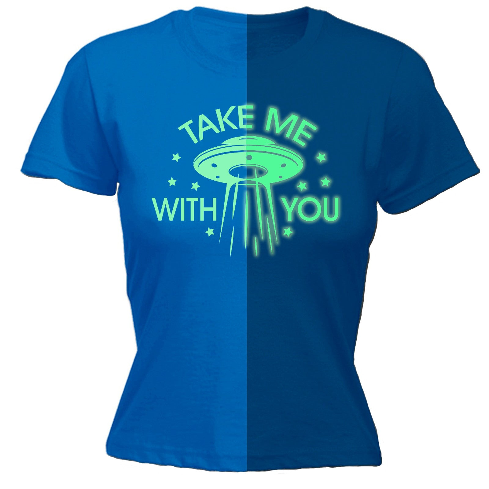 d83f907d230 Buy 123t Women s Take Me With You GID UFO - FITTED T-SHIRT at ...
