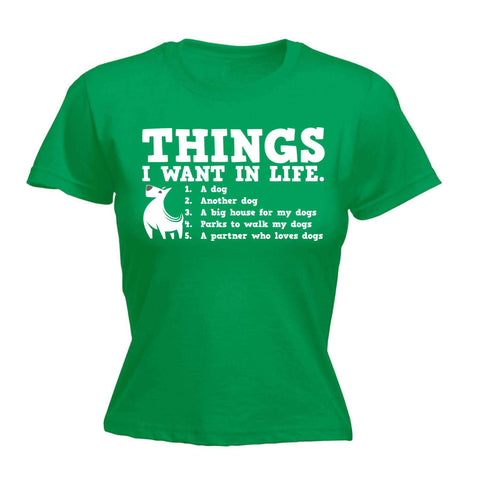 Women's Things I Want In Life - FITTED T-SHIRT