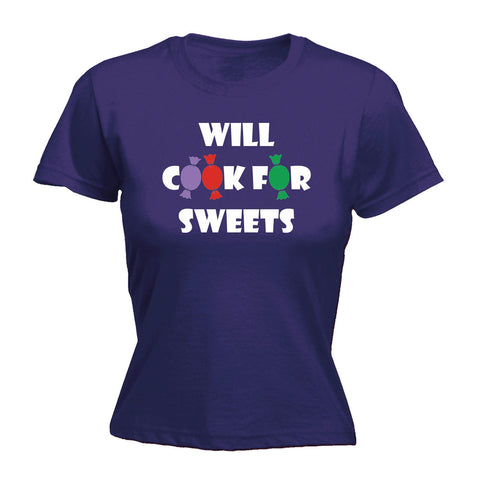 123t Women's Will Cook For Sweets - FITTED T-SHIRT
