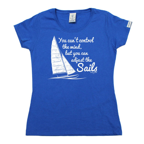 Ocean Bound Women's Can't Control The Wind Can Adjust The Sails Sailing T-Shirt