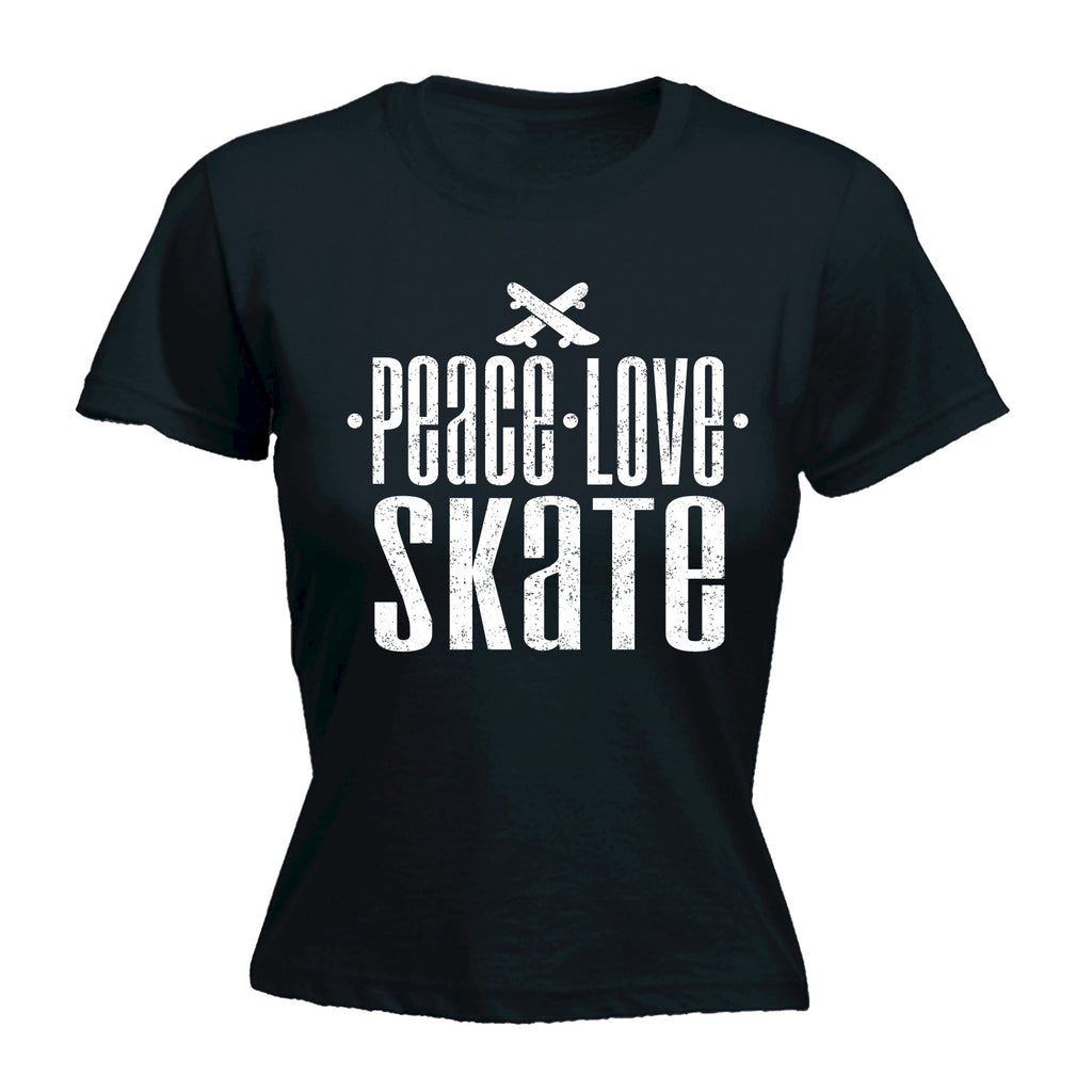 123t Women's Peace Love Skate Funny T-Shirt