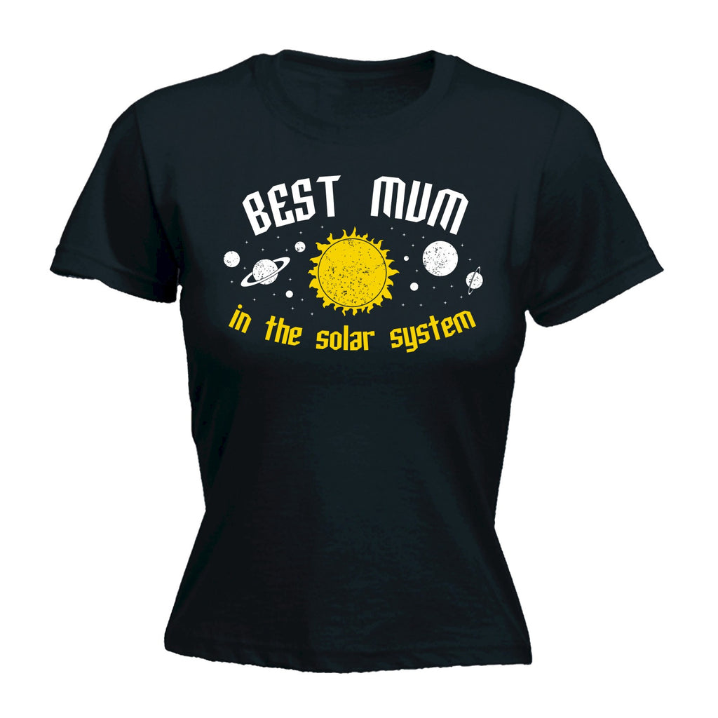 123t Women's Best Mum In The Solar System Galaxy Design Funny T-Shirt
