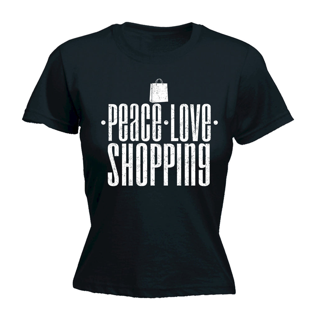123t Women's Peace Love Shopping Funny T-Shirt