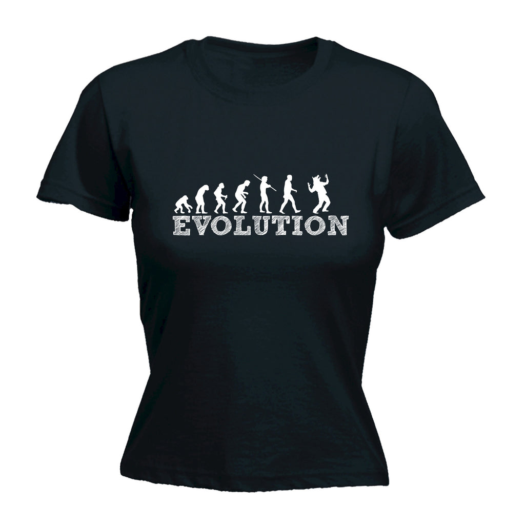 123t Women's Evolution Werewolf Funny T-Shirt