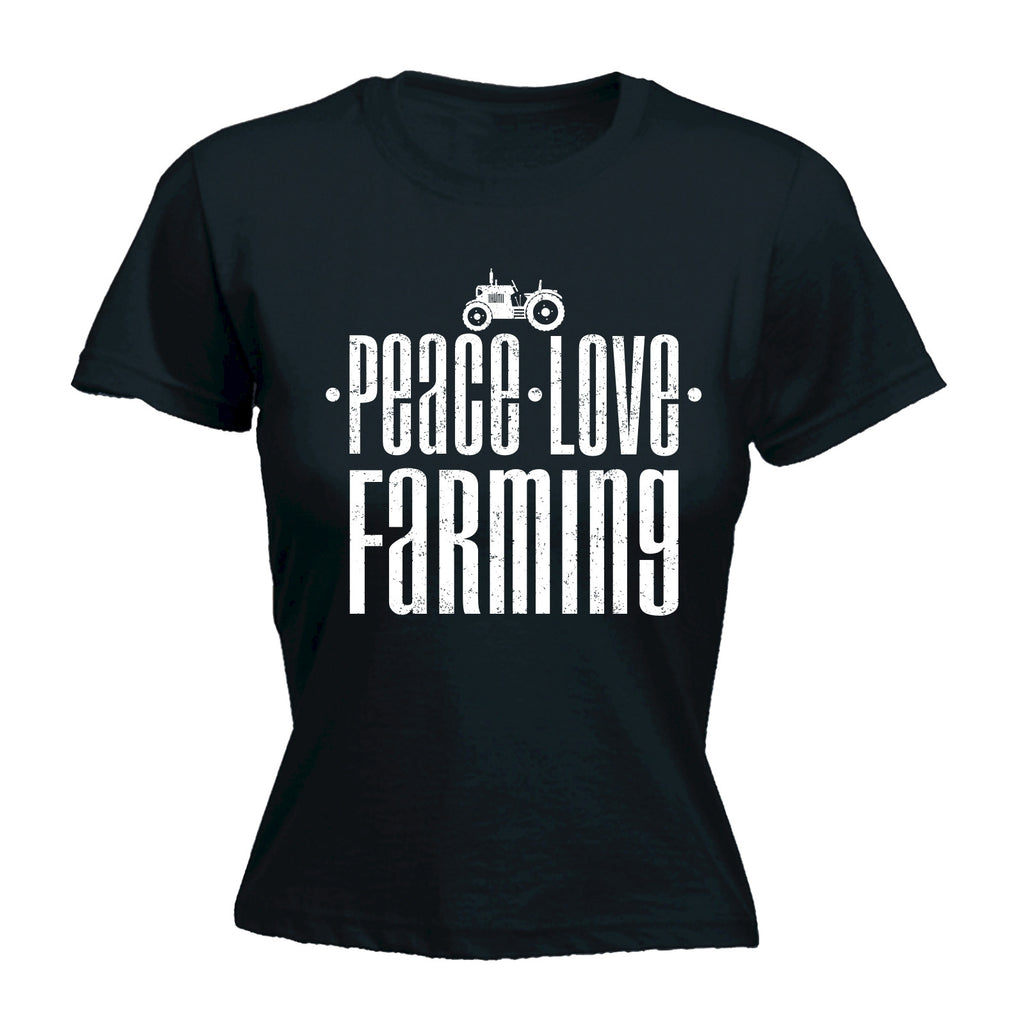123t Women's Peace Love Farming Funny T-Shirt