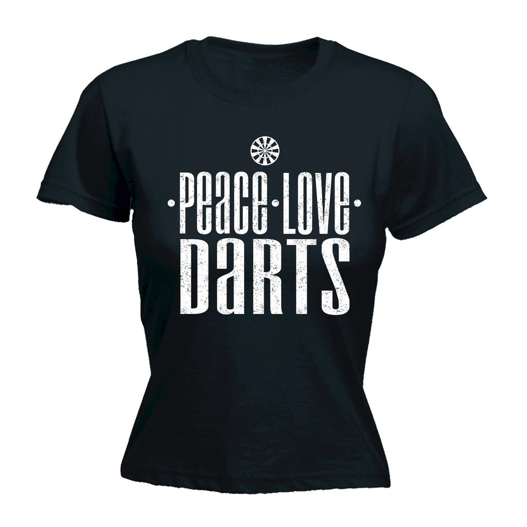 123t Women's Peace Love Darts Funny T-Shirt