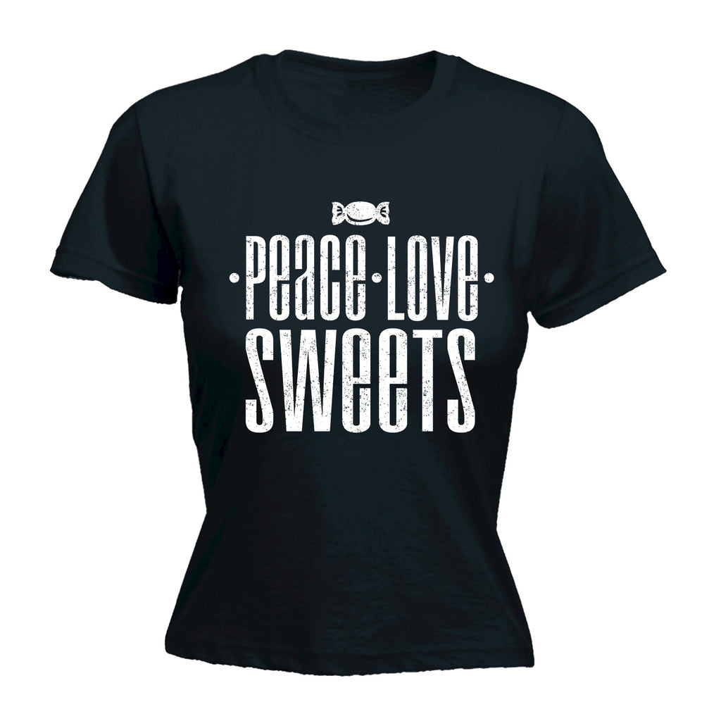 123t Women's Peace Love Sweets Funny T-Shirt