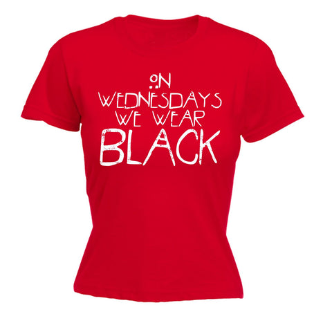 123t Women's On Wednesdays We Wear Black - T Shirt Funny 123t Tee