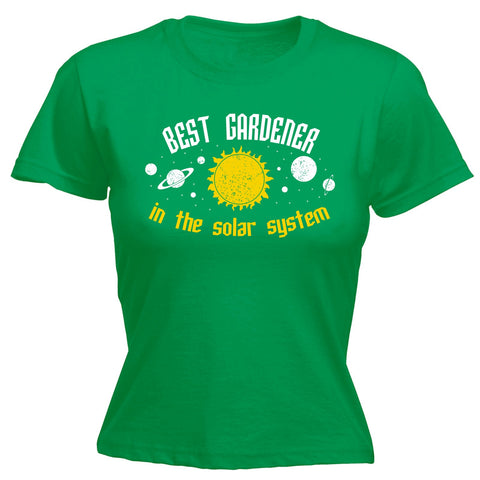 123t Women's Best Gardener In The Solar System Galaxy Design Funny T-Shirt