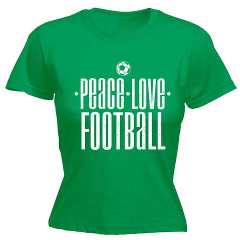 123t Women's Peace Love Football Funny T-Shirt