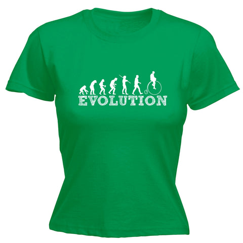 123t Women's Evolution Penny Farthing Funny T-Shirt