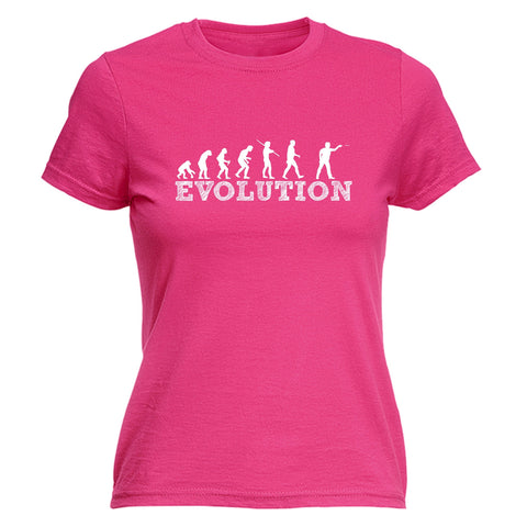 123t Women's Evolution Darts Player Funny T-Shirt