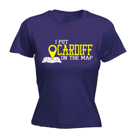 123t Women's I Put Cardiff On The Map Funny T-Shirt