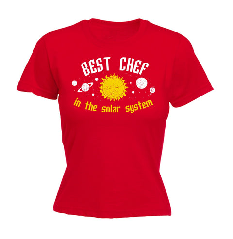 123t Women's Best Chef In The Solar System Galaxy Design Funny T-Shirt