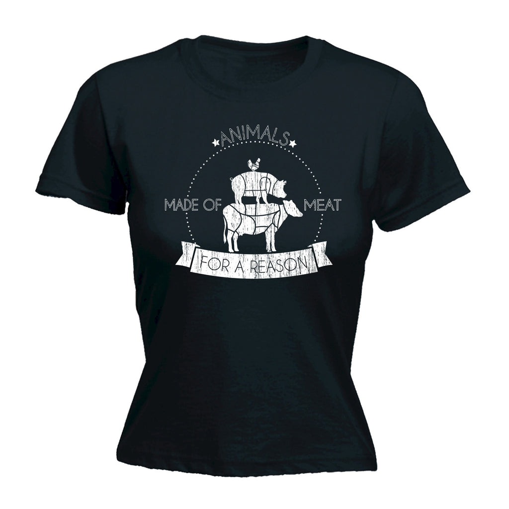 123t Women's Animals Made Of Meat For A Reason Funny T-Shirt