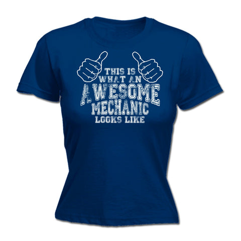 123t Women's 123t This Is What An Awesome Mechanic Looks Like Funny T-Shirt