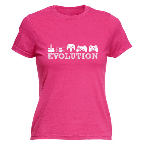 123t Women's Evolution Gaming Funny T-Shirt