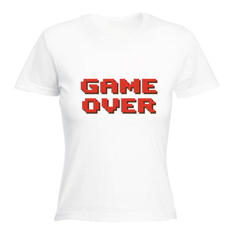 123t Women's Game Over ... Red Text Funny T-Shirt