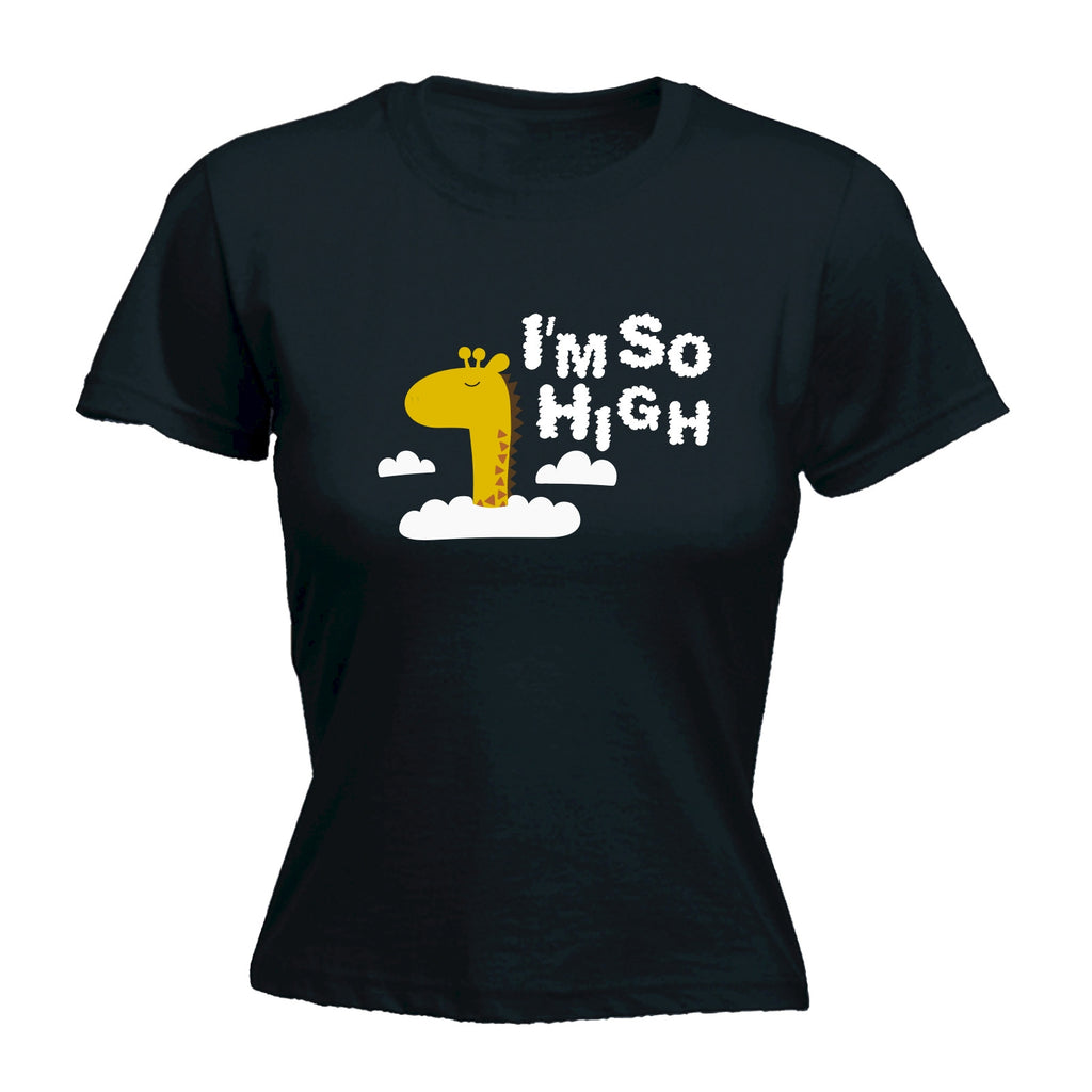 123t Women's I'm So High Giraffe Design Funny T-Shirt