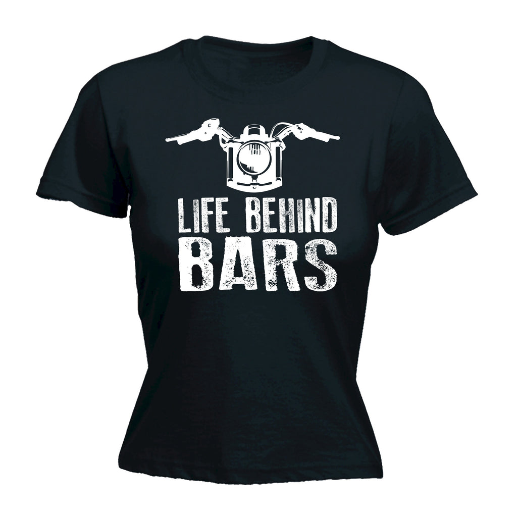 123t Women's Life Behind Bars Motorbike Design Funny T-Shirt