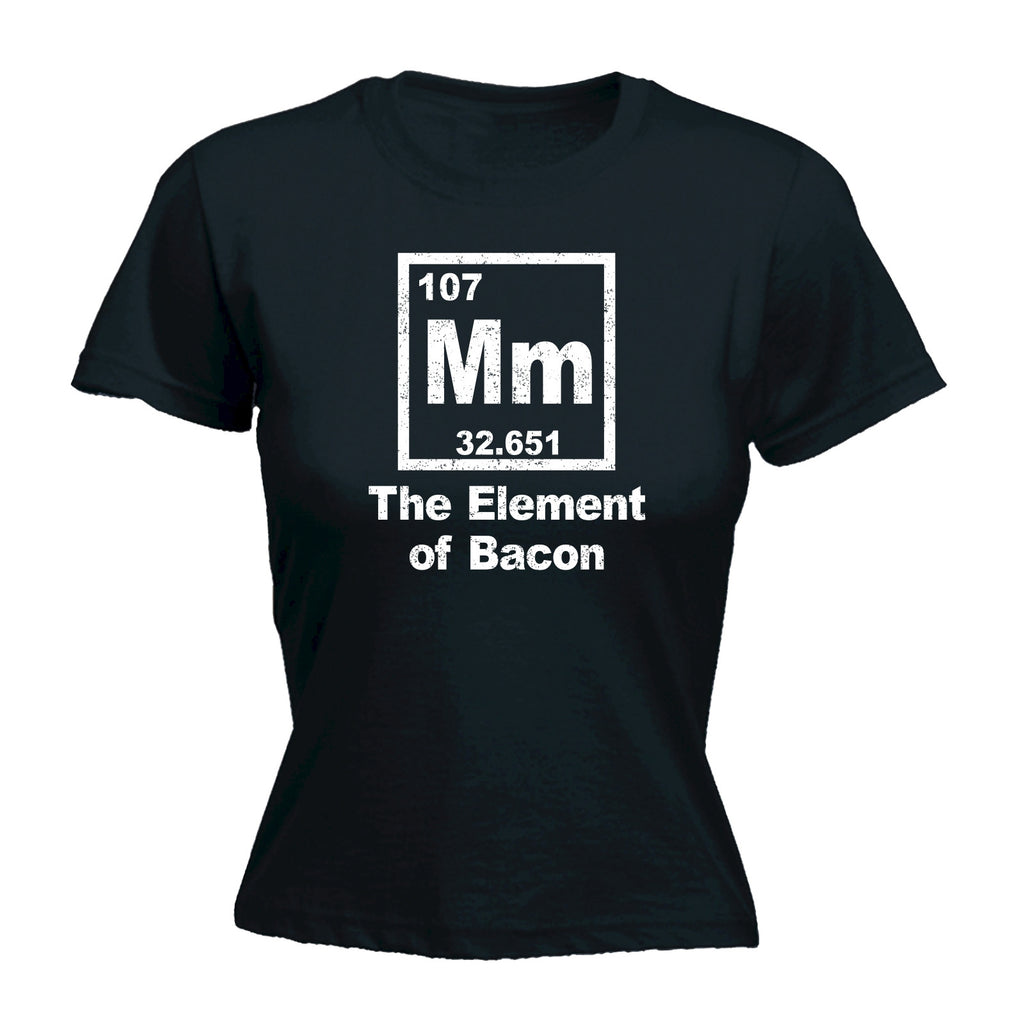 123t Women's Mm The Element Of Bacon Periodic Design Funny T-Shirt