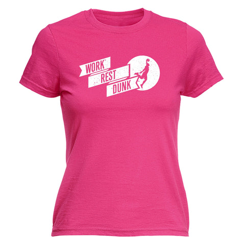 123t Women's Work Rest Dunk Funny T-Shirt