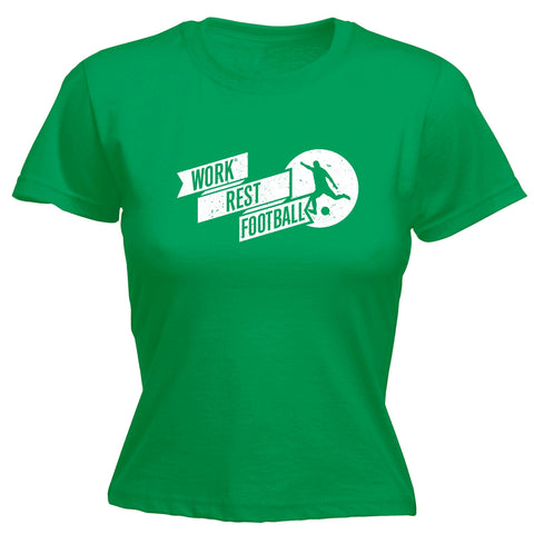 123t Women's Work Rest Football Funny T-Shirt