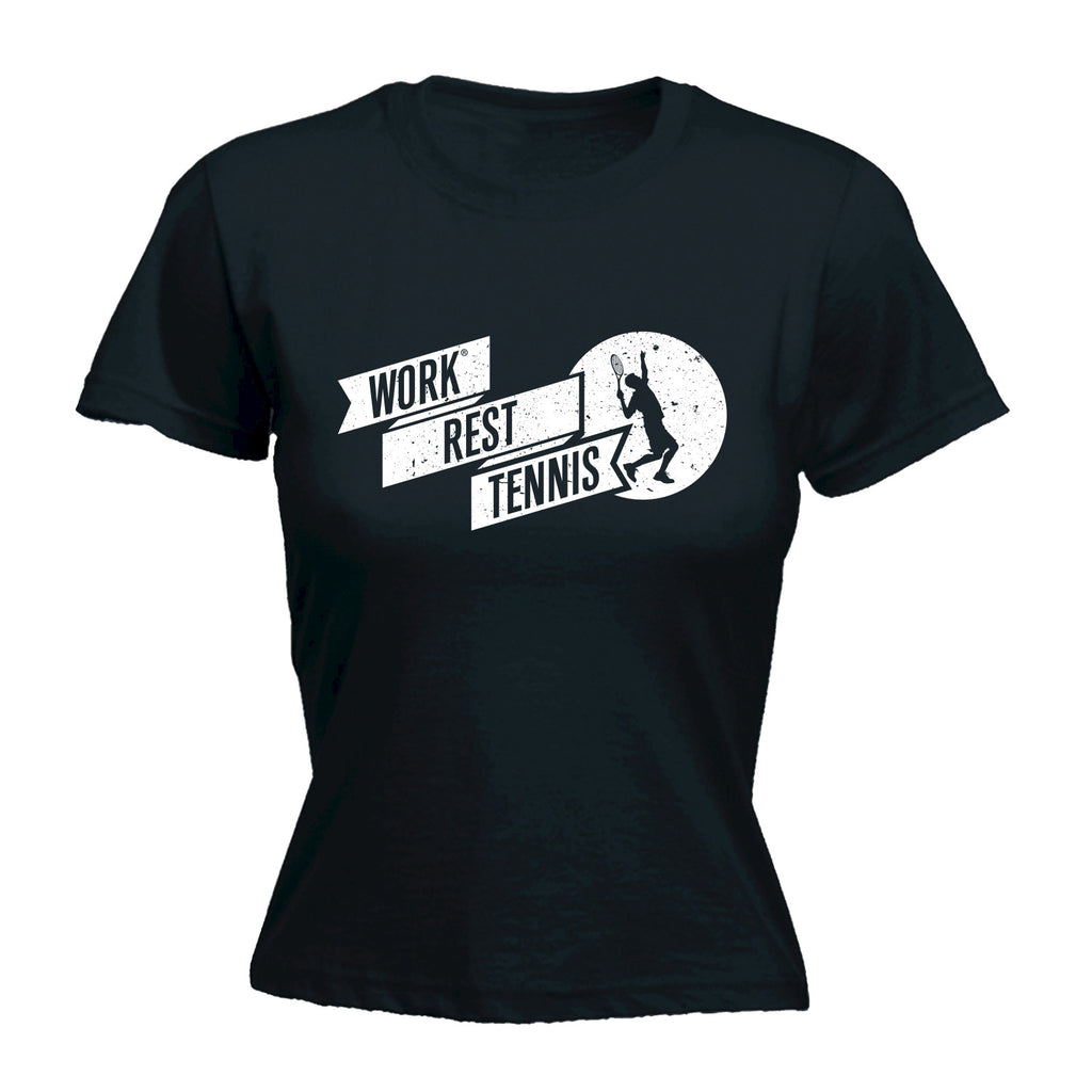 123t Women's Work Rest Tennis Funny T-Shirt