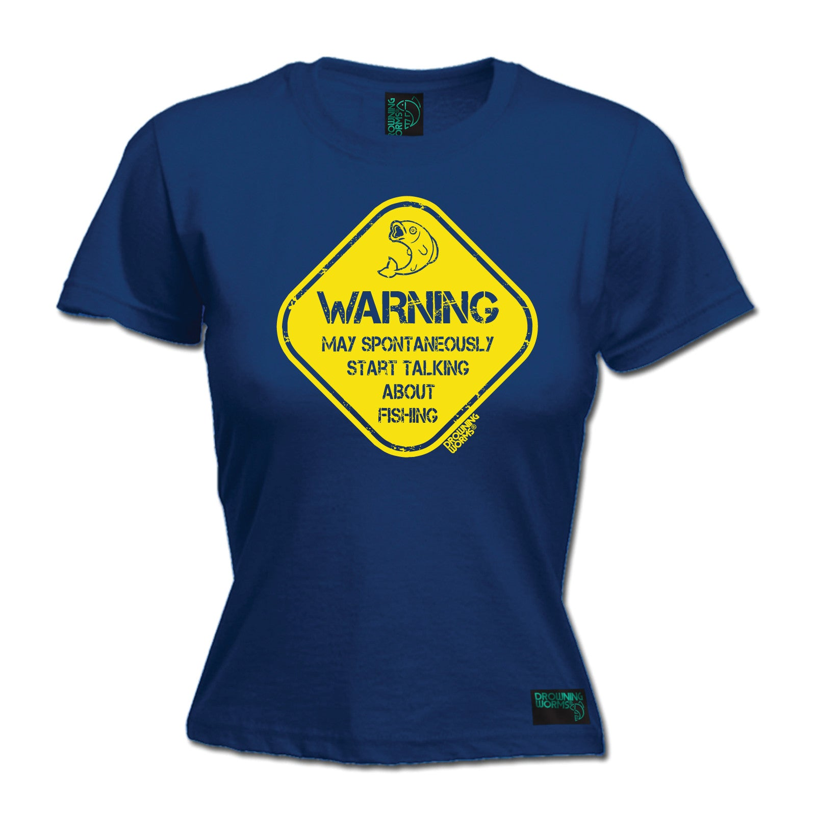 Warning-Talk-About-Fishing-WOMENS-Drowning-Worms-T-SHIRT-tee-Christmas-gift-fish