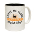 123t Leave Me Alone Cat Funny Mug