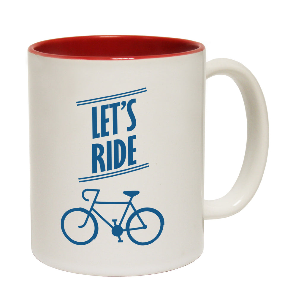 Ride Like The Wind Let's Ride Funny Cycling Mug