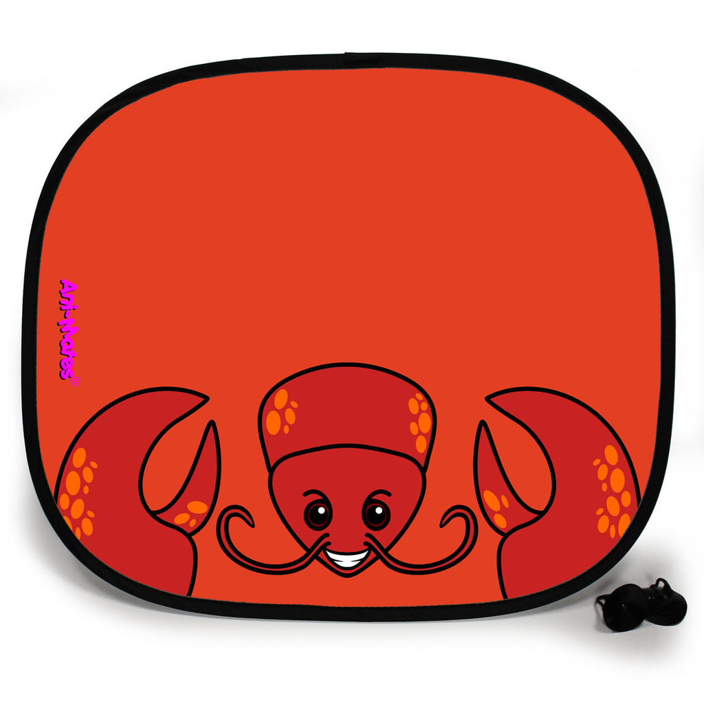 Ani-Mates Animals Lobster Personalised UV Protection Fun Vehicle Interior Window Car Sunshade