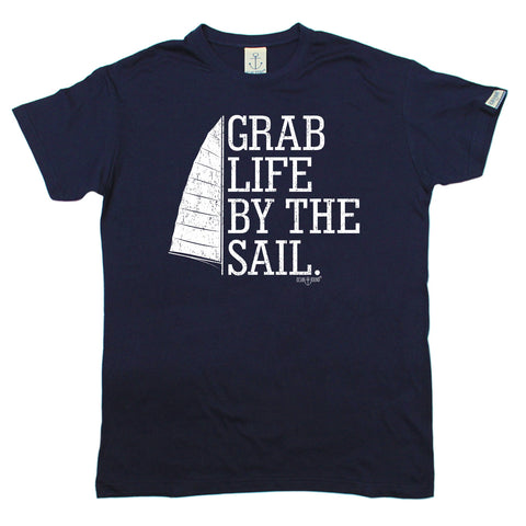Ocean Bound Men's Grab Life By The Sail Sailing T-Shirt