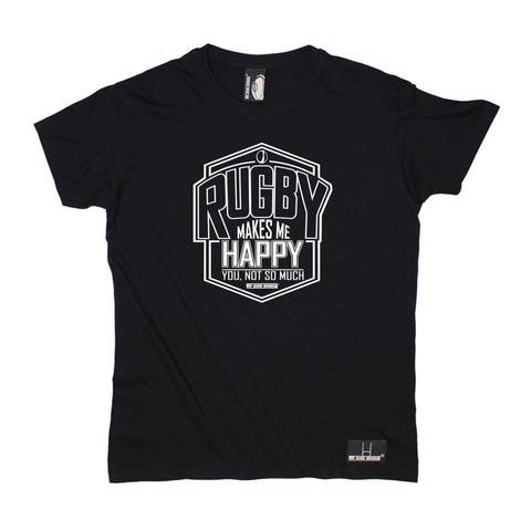 Up and Under Mens - Rugby Makes Me Happy - Rugby T-SHIRT