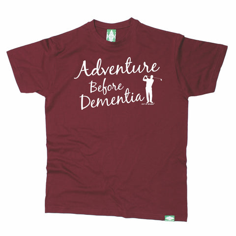 Out Of Bounds Men's Adventure Before Dementia Golfing T-Shirt