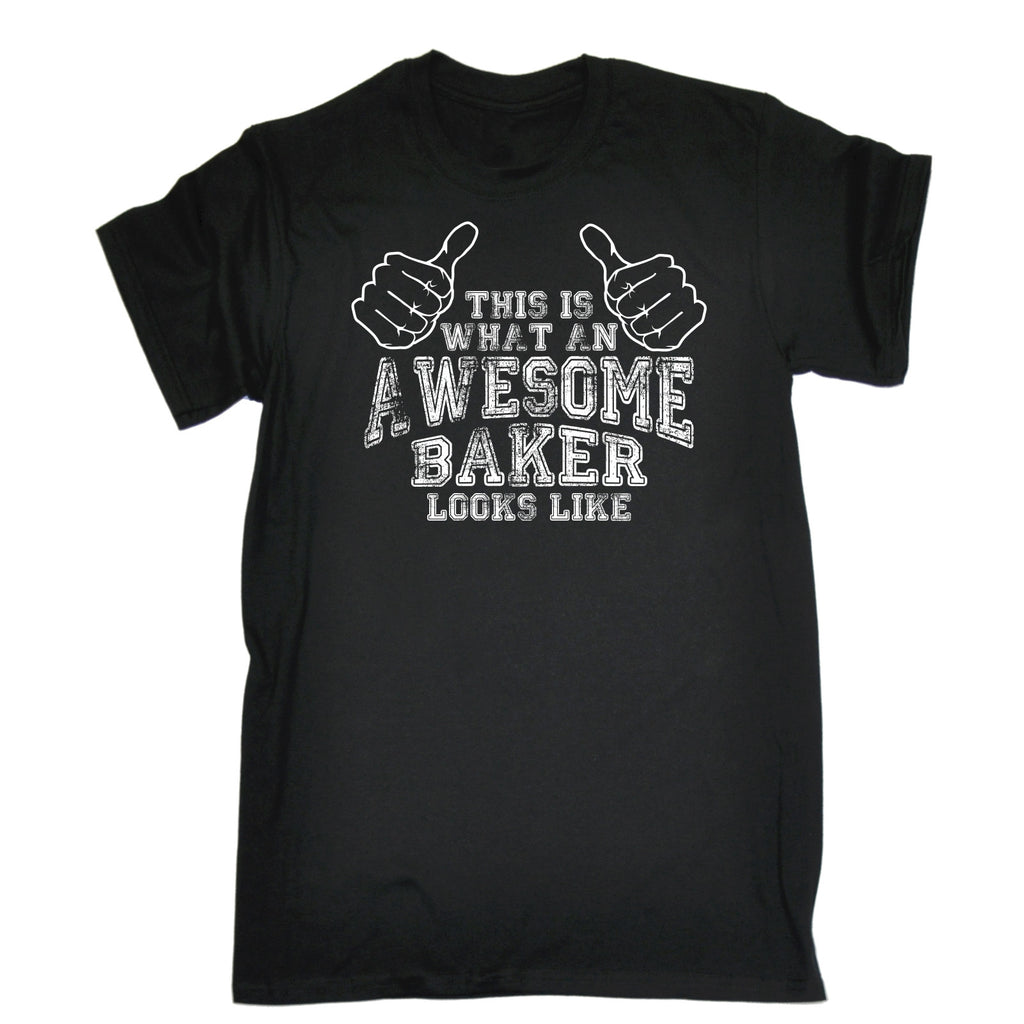 123t Men's This Is What An Awesome Baker Looks Like Funny T-Shirt
