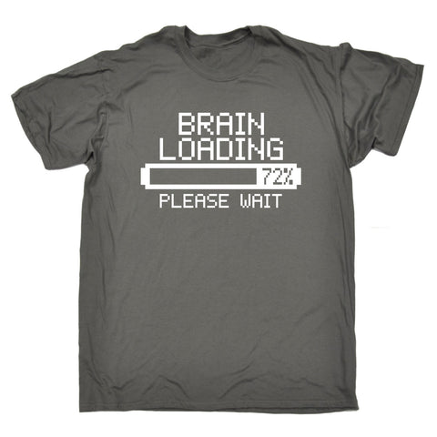 123t Men's Brain Loading Please Wait Funny T-Shirt