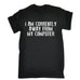123t Men's I Am Currently Away From My Computer Funny T-Shirt