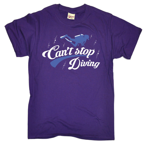 123t Men's Can't Stop Diving Funny T-Shirt