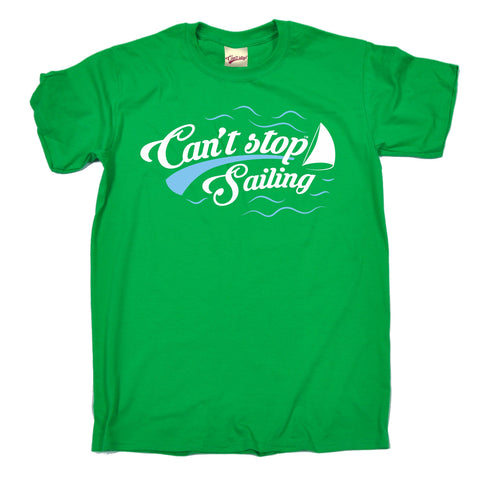 123t Men's Can't Stop Sailing Funny T-Shirt