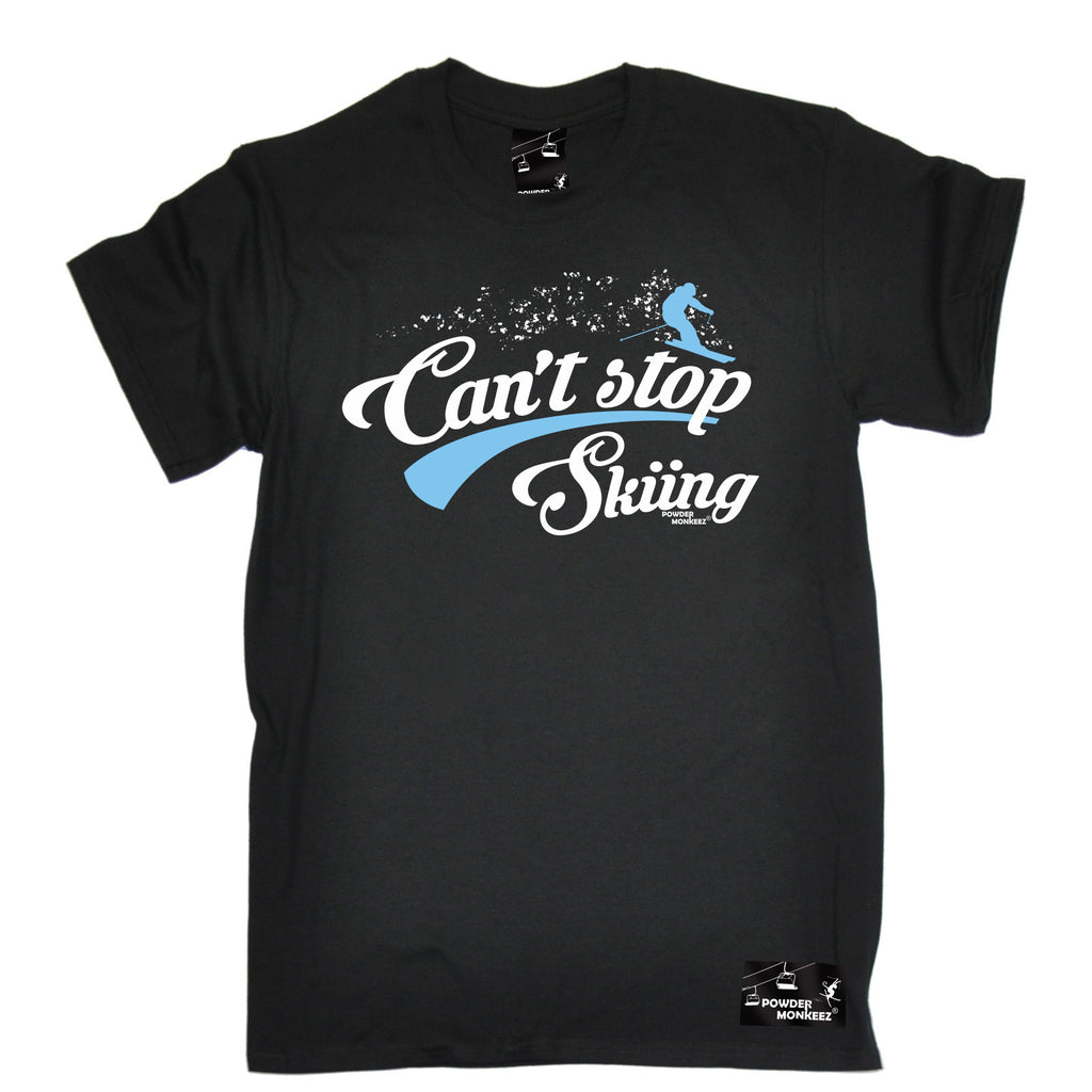 Powder Monkeez Men's Can't Stop Skiing Ski T-Shirt