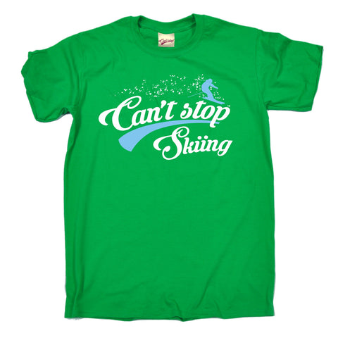 123t Men's Can't Stop Skiing Funny T-Shirt