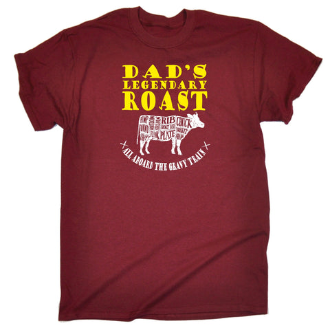 123t Men's Dad's Legendary Roast Funny T-Shirt