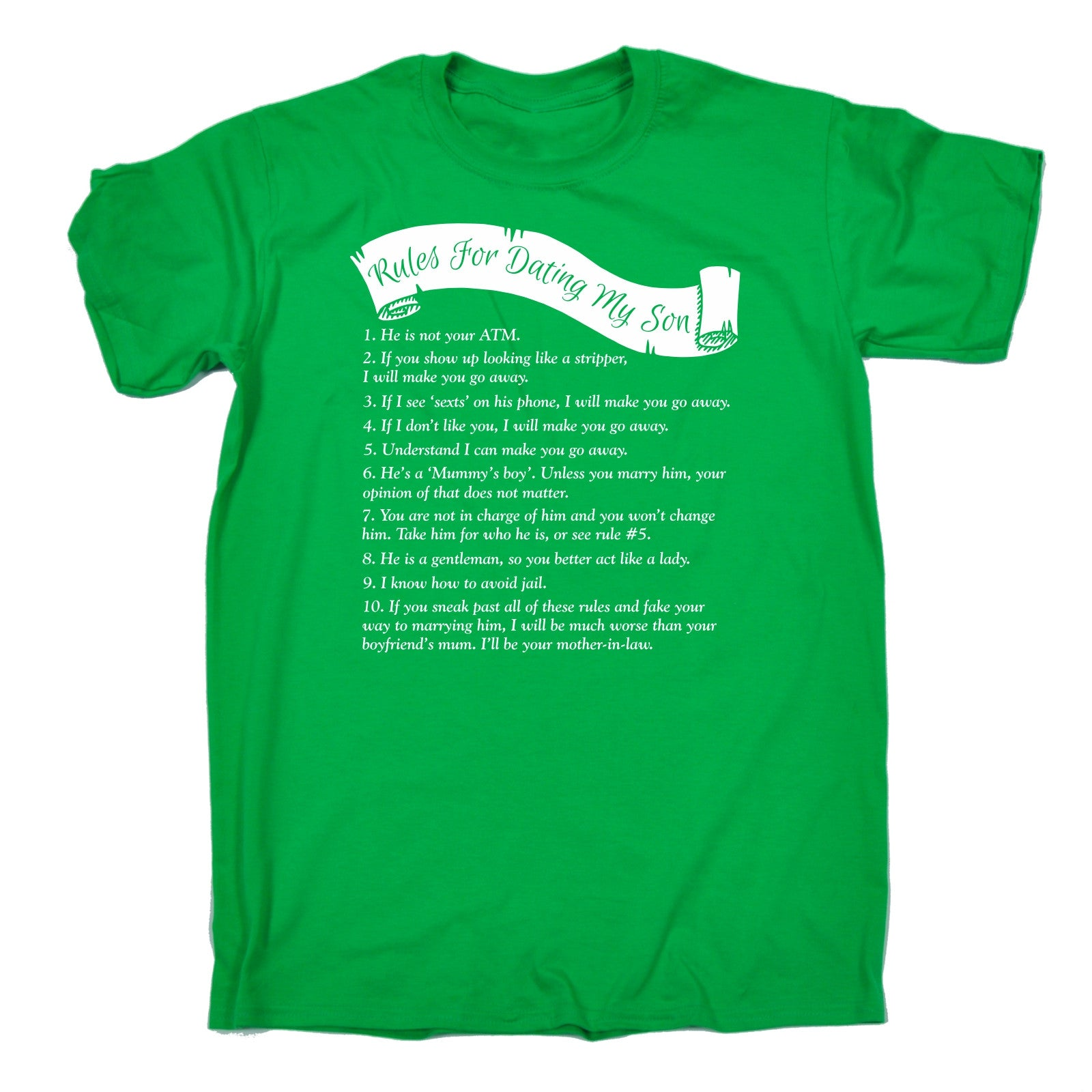Rules For Dating My Son Shirt