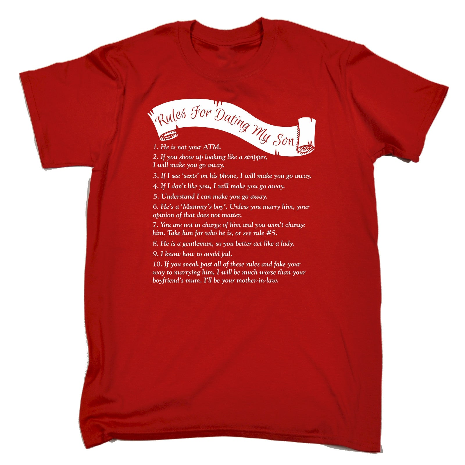 Rules of dating my son shirt