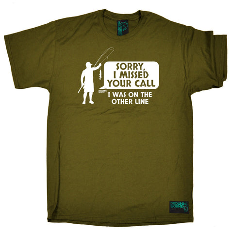 Drowning Worms Mens - I Was On The Other Line - Fishing T-SHIRT