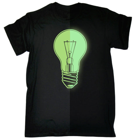 123t Men's Glow In The Dark Light Bulb Funny T-Shirt