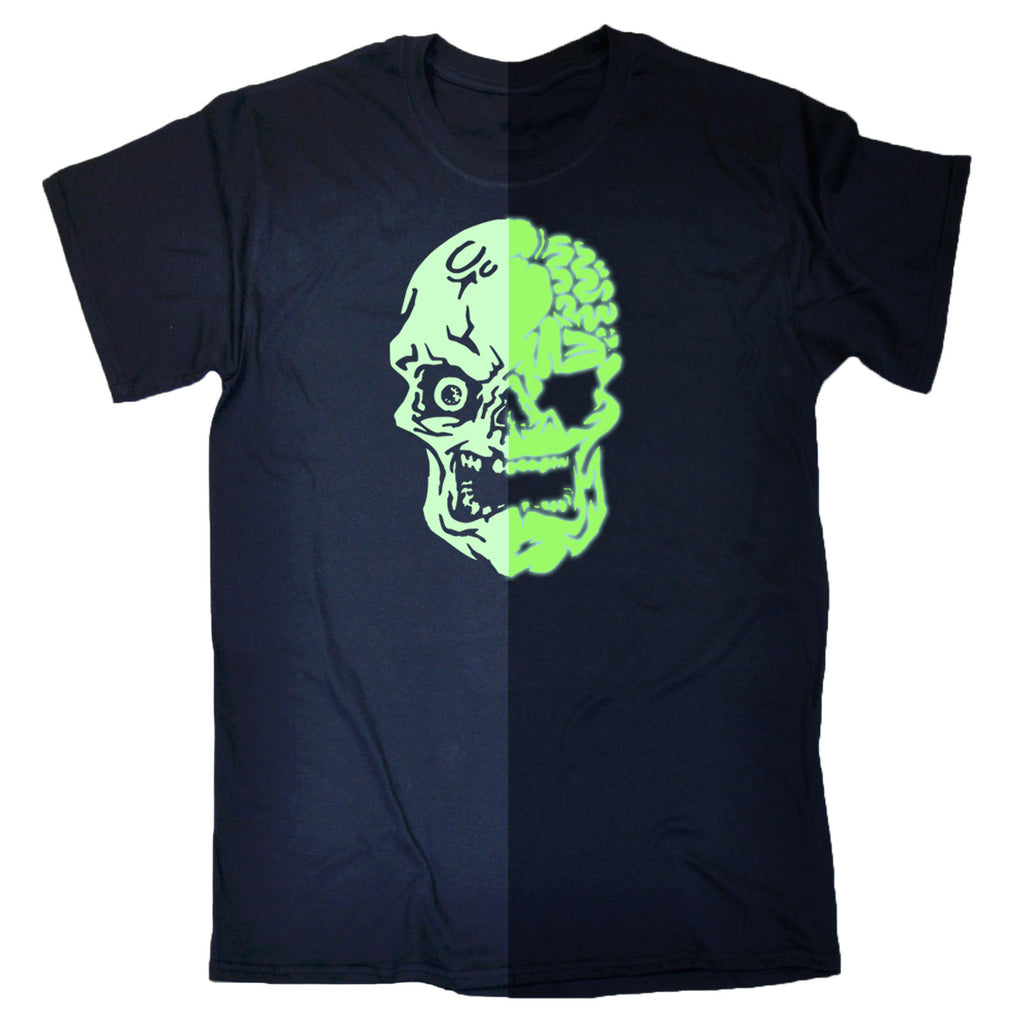 Buy 123t Mens Glow In The Dark Skull T Shirt At 123t T Shirts