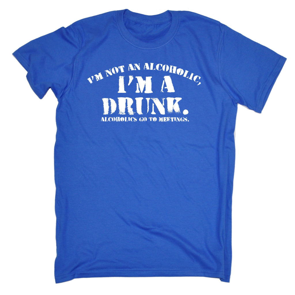 8208fe46 Buy 123t Men's I'm Not An Alcoholic I'm A Drunk Alcoholics Go To ...