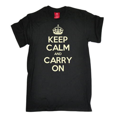 Men's Official Keep Calm And Carry On T-Shirt